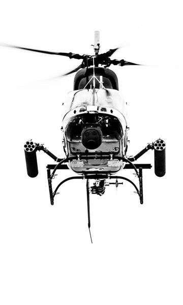 Image: When I photographed this helicopter it was headed straight for me, holding down the AF-ON but...