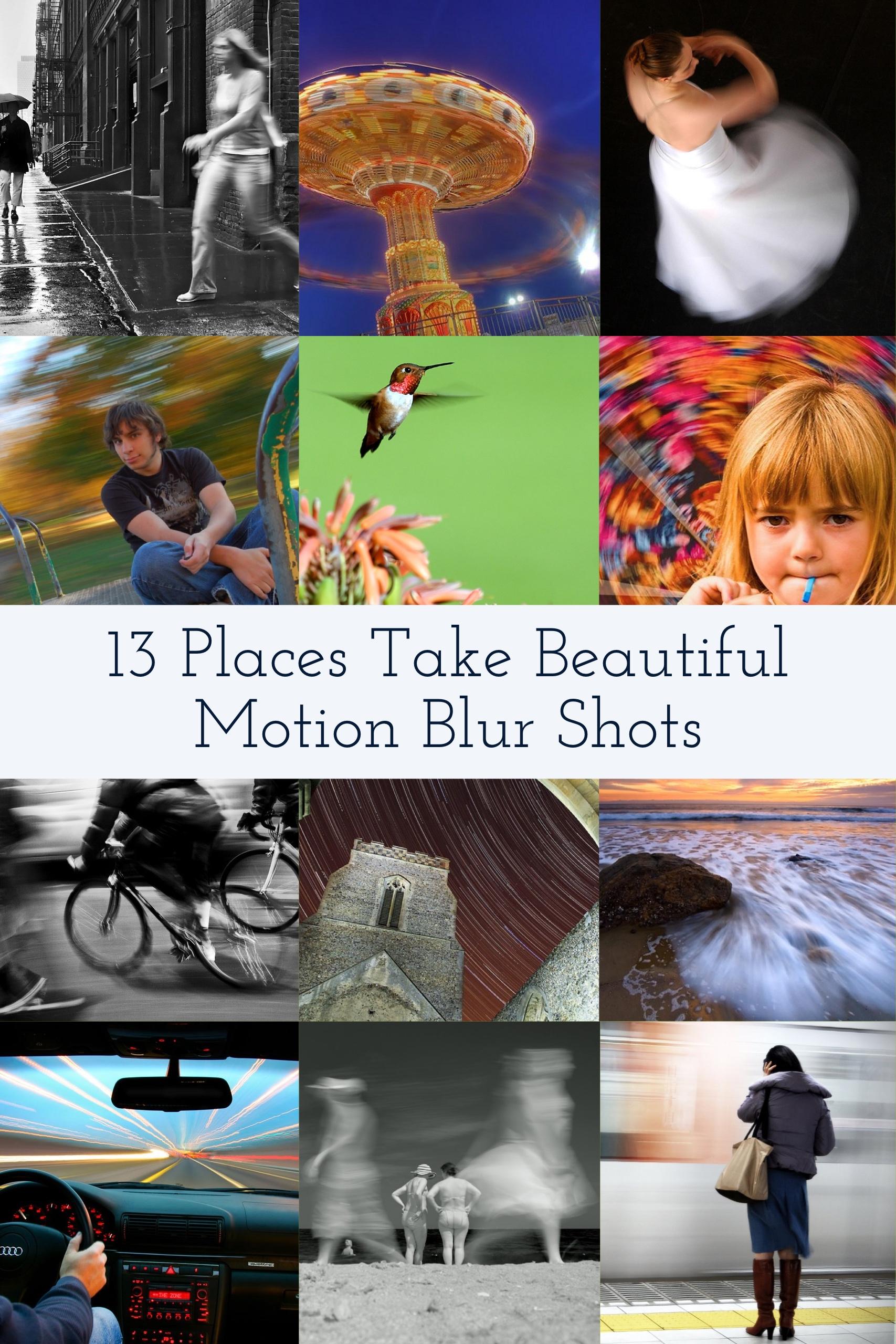 how to take train blurring shot