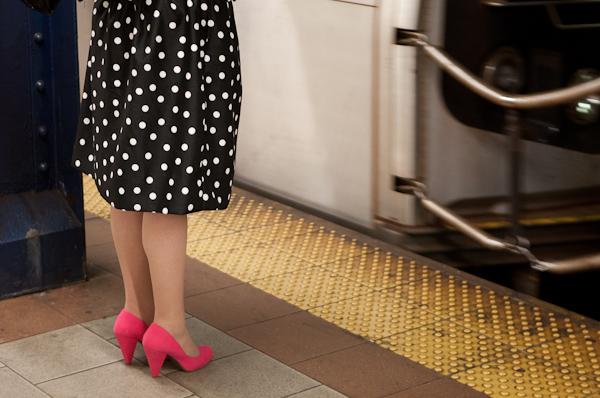 Polka Dots and Pink Shoes, Subway.