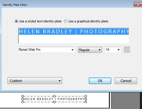 Lightroom print image with border 5