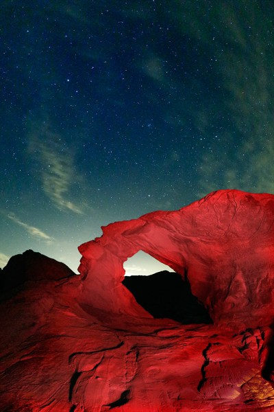 Image: For this image at Valley of Fire in Nevada, the arch made for the perfect foreground. But it...