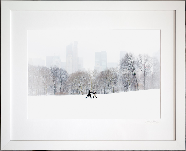 Couple in Sheep Meadow, Framed