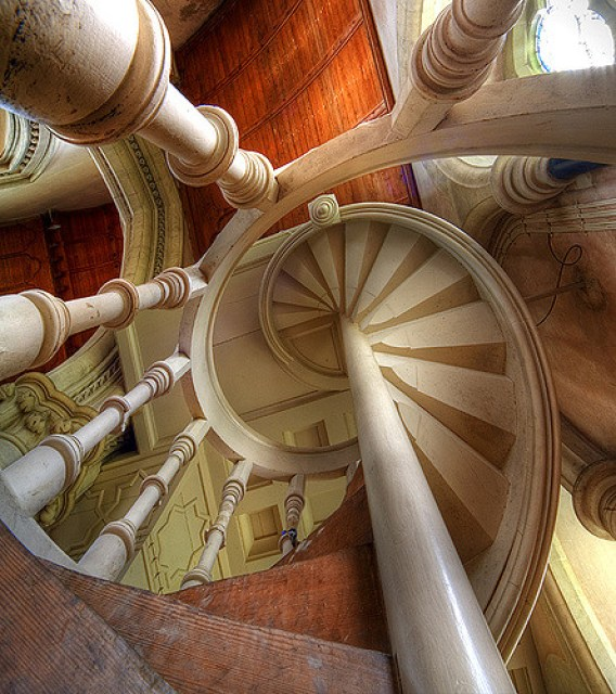 Organ staircase Saint Mary's Studley Royal, Yorkshire UK