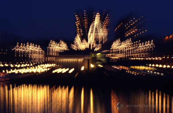 The Legislature in Victoria, British Columbia using the zoom blur technique.