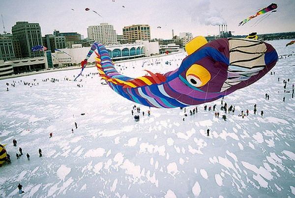 kites on ice