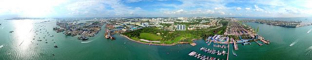 360° x 120° Panorama View of West Coast, Singapore