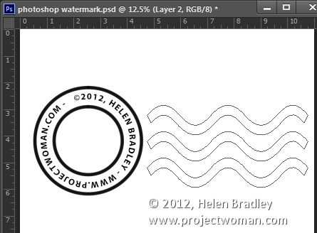 Make a watermark image in photoshop step10