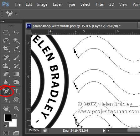 Make a watermark image in photoshop step11