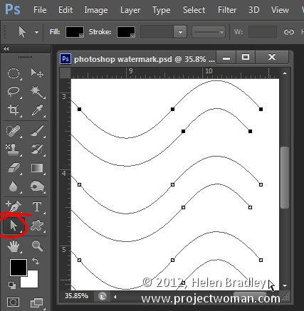 Make a watermark image in photoshop step12