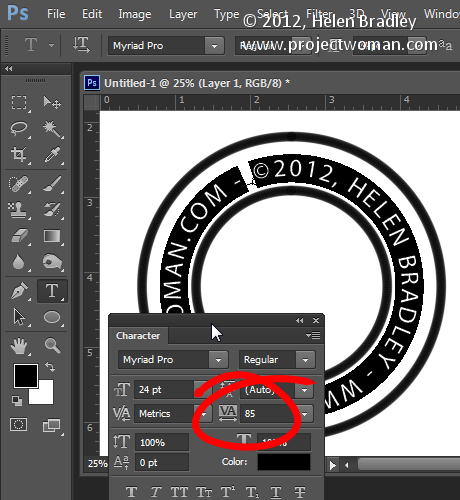 Make a watermark image in photoshop step8