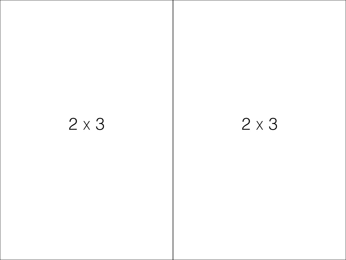 Two 2:3 aspect ratio portrait images placed next two eachother