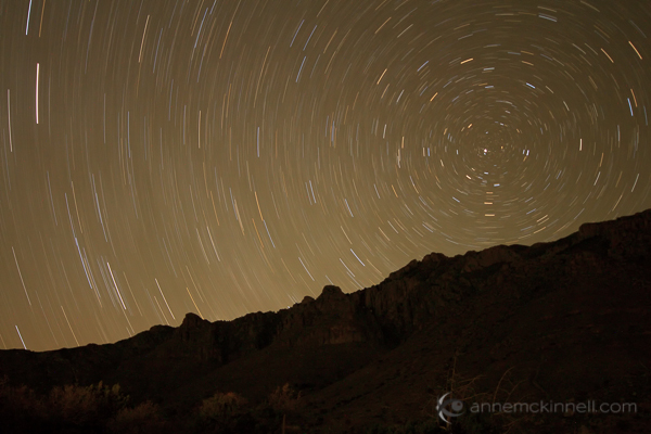 Star Trails in Guadalupe National Park, Texas