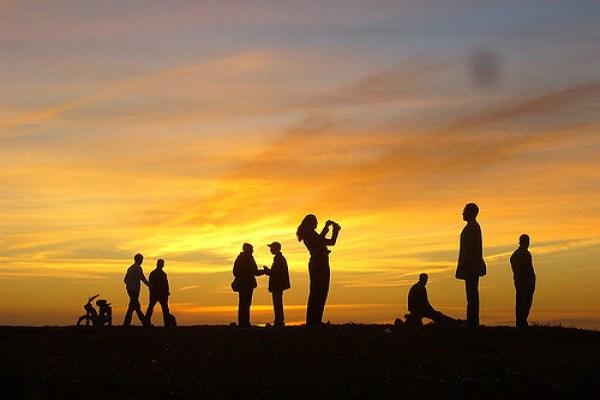 Sunday sunset on Rabat beach
