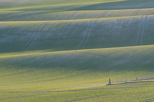 Telephoto Landscape - Rolling Farmland