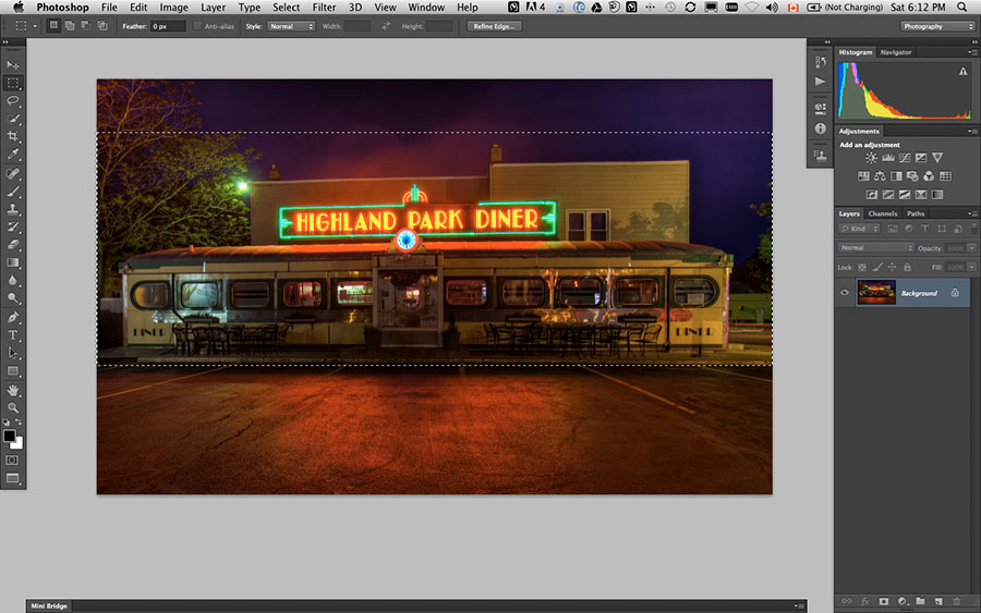 how to create reflection in photoshop