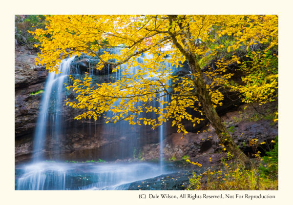 Beulach Ban Falls in the 2nd week of October.