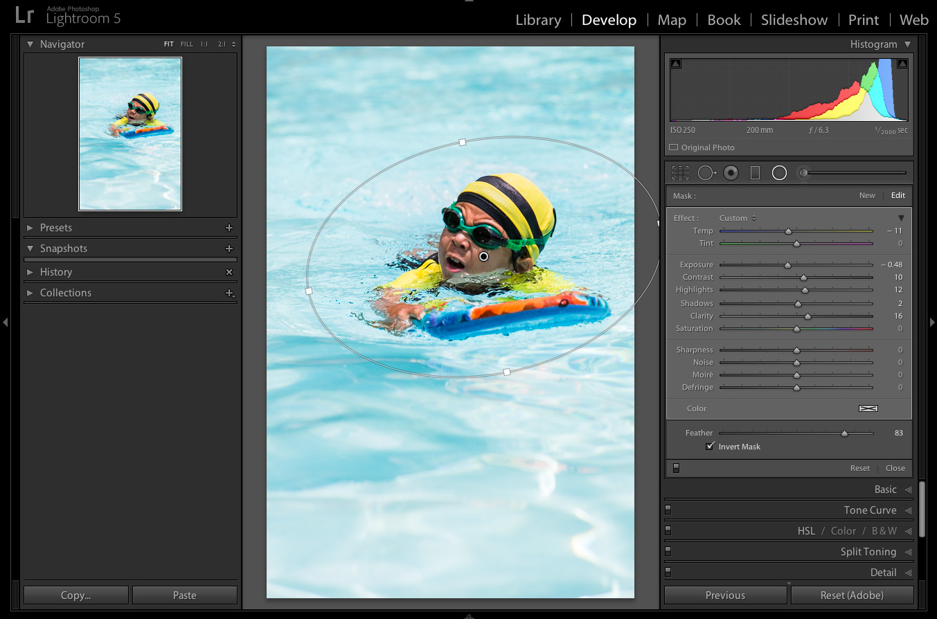 how to use mask tool in lightroom