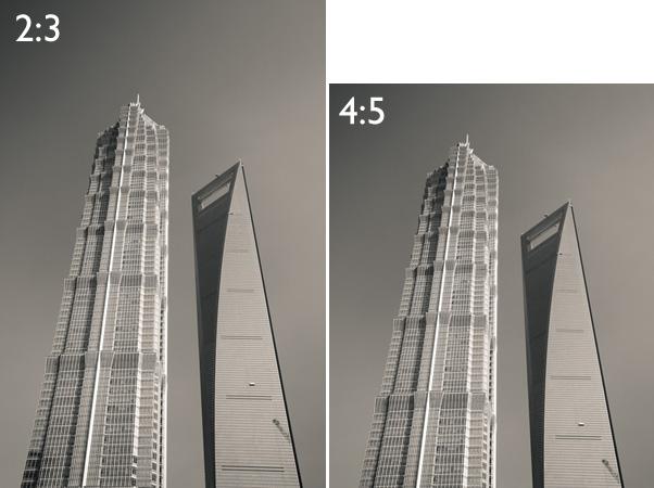 comparação da proporção da foto