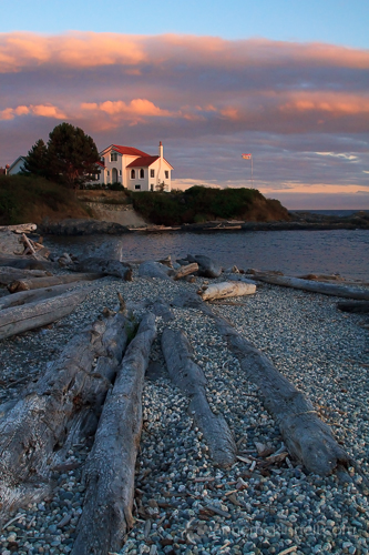 Leading Lines:  Sunset at Ross Bay, Victoria, British Columbia, by Anne McKinnell