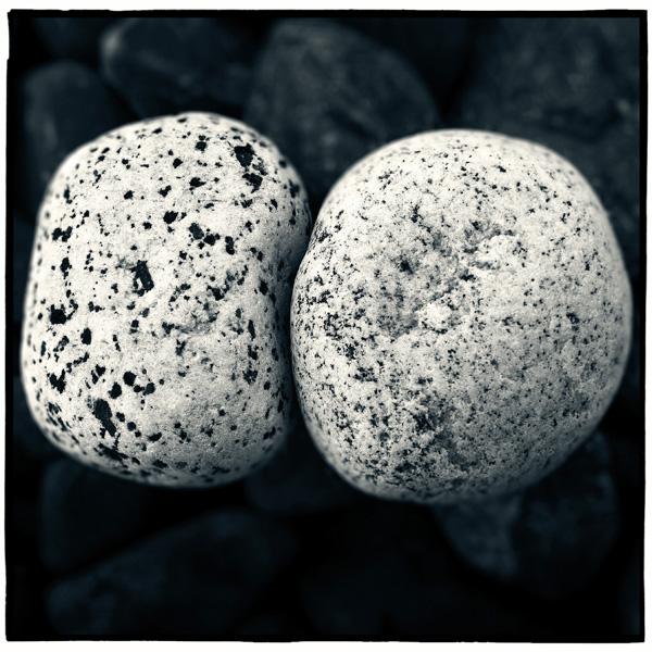 two rocks side by side
