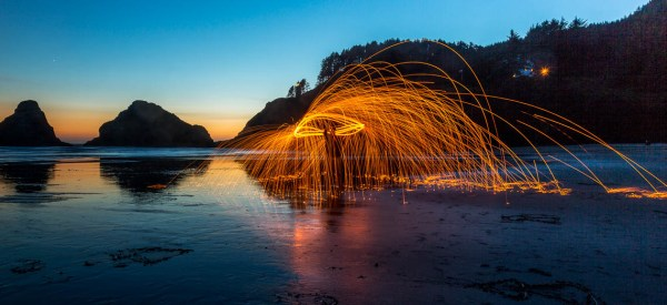 Steel wool or fire spinning, something I've always wanted to do and finally got to try it.