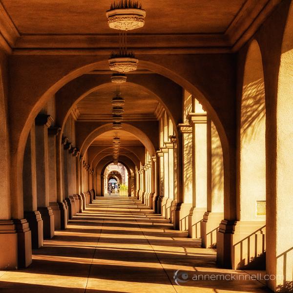 The El Prado Pedestrian Walkway, Balboa Park, San Diego, California, by Anne McKinnell