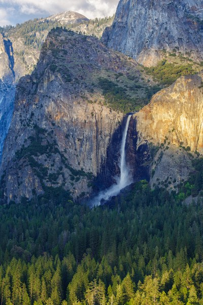 This shot, taken with an EOS 5D Mark III and EF 70-300 f/4-5.6L, shows how you can isolate one area of a landscape, here focusing on Bridal Veil Falls in Yosemite National Park.