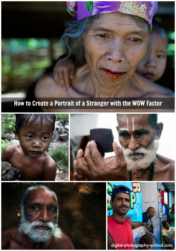 how to create portraits of strangers with wow factor