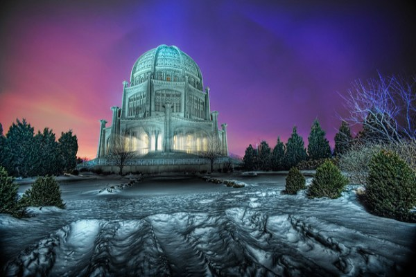 The Baha'i Temple at Blue Hour