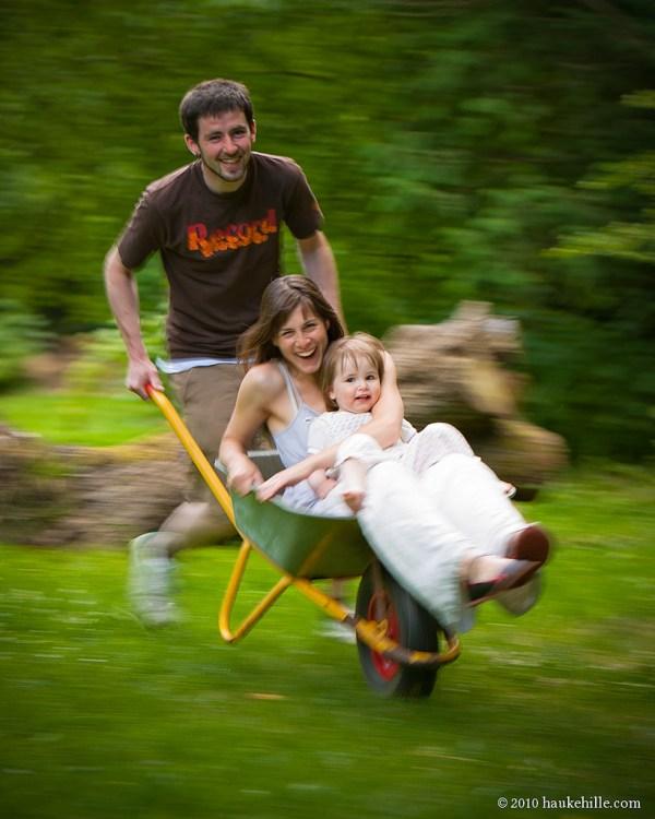 Family Portrait: The Wheelbarrow Race