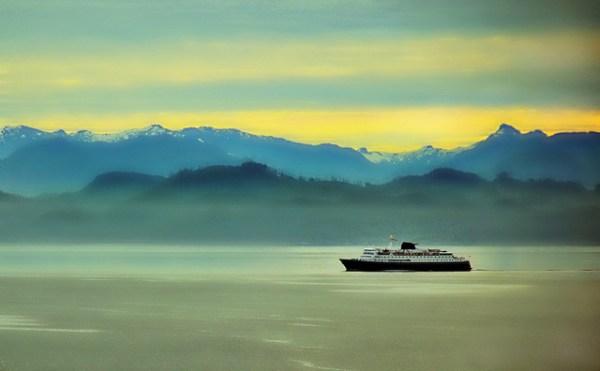 Misty Morning Sunrise - Alaska Landscape