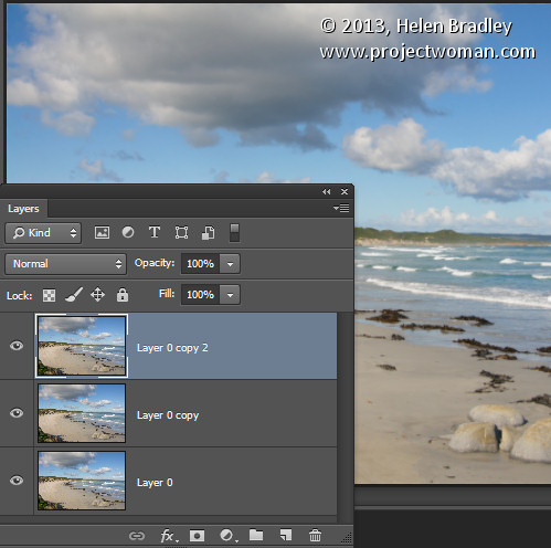 photoshop how to create a finished image layer