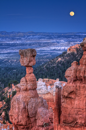 Supermoon at Bryce Canyon National Park, Utah, by Anne McKinnell