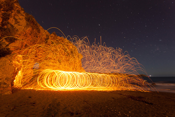 Steel wool spinning