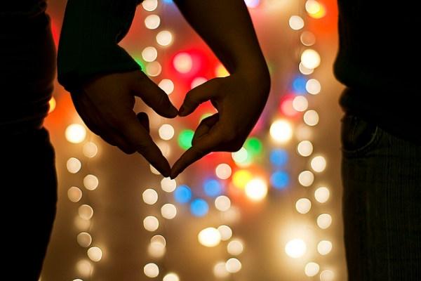 love 1050 - Blurred Christmas Lights