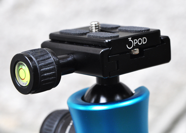 The K3 ball head provides secure, sturdy support.