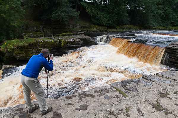Photographer at Aysgarth Falls in Yorkshire Dales