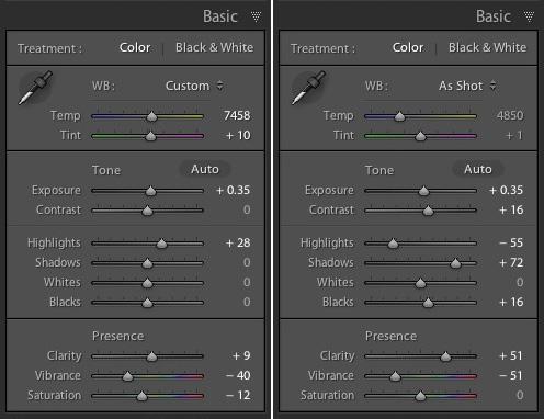 Lightroom develop presets