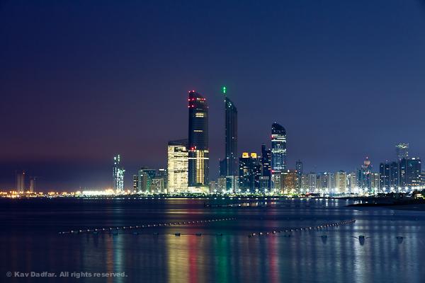 Abu Dhabi cityscape at night
