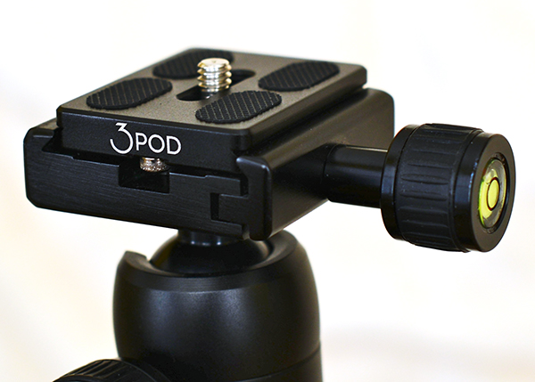 The K2 ball head provides a secure, sturdy platform for mounting your camera.