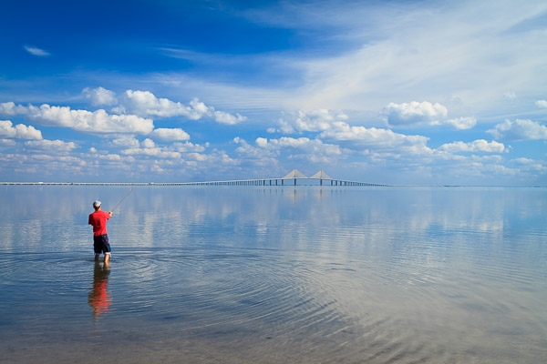 Fisherman at Fort DeSoto, Florida, by Anne McKinnell