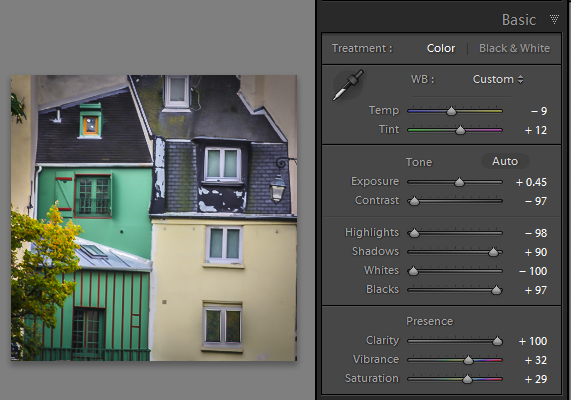Before colorizing the image, make sure to adjust the tonal range and contrast.