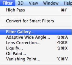 Photoshop tips filters