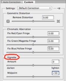 Photoshop tips vignetting