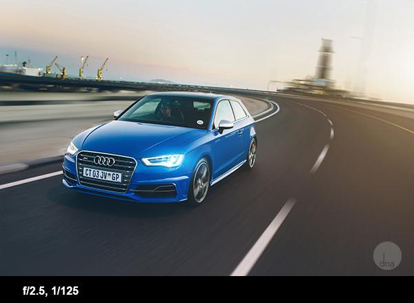 Car photography tips S3 driving shot
