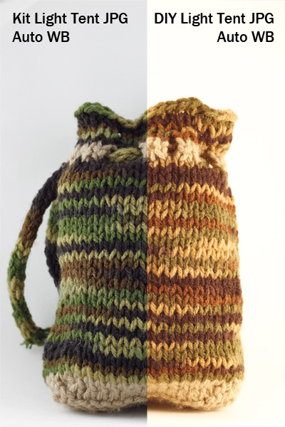 light tent, product photography, knit bag, photography, how to, light tent