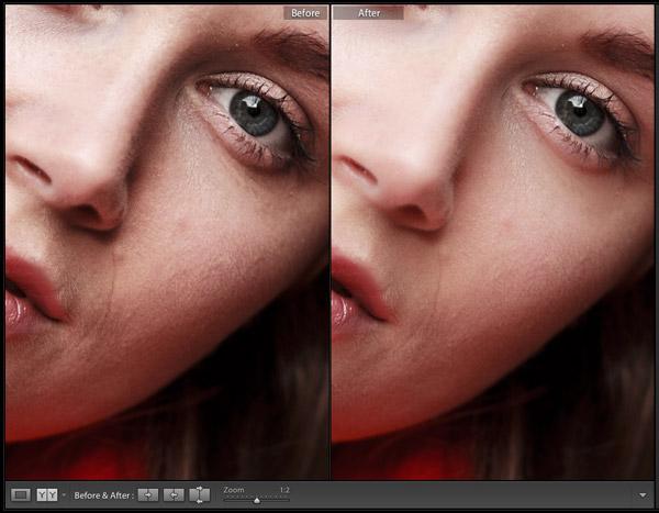 Lightroom portrait retouching