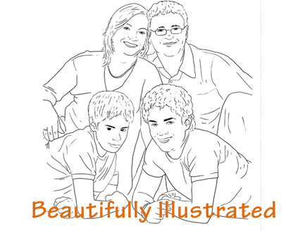 illustrated portrait poses guide