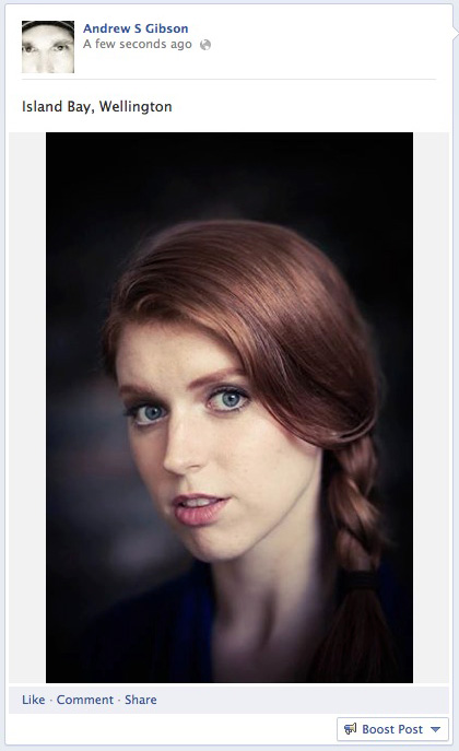 Portrait published on Facebook page