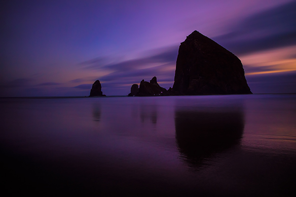 Cannon Beach, Oregon. EOS 5D Mark III with EF 24-70 f/2.8L II. !20 seconds, f/11, ISO 640.